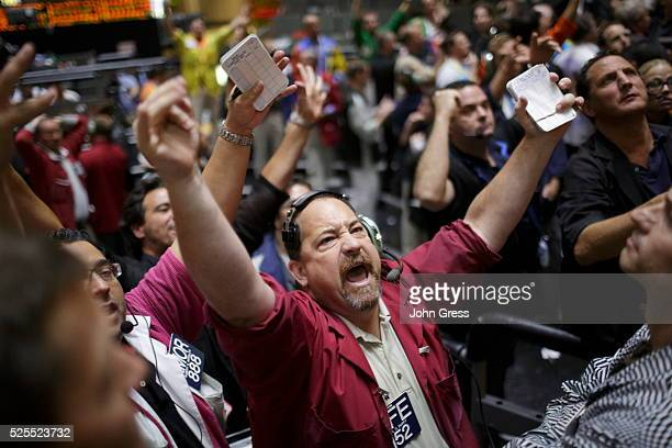 A trader reacts in the SP futures pit at the CME group in Chicago September 13 after the Federal Reserve launched another aggressive stimulus program...