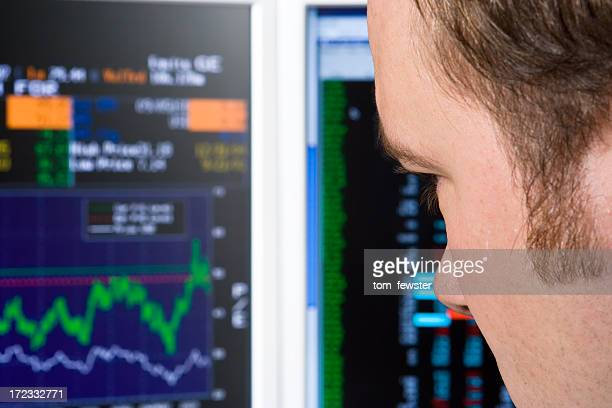 Trader watching trading screen