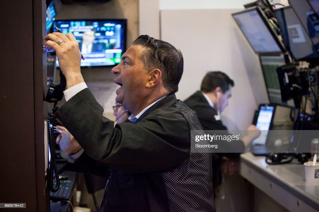 Trading On The Floor Of The NYSE As U.S. Stocks Rise, Dollar Steady Amid Tax Debate