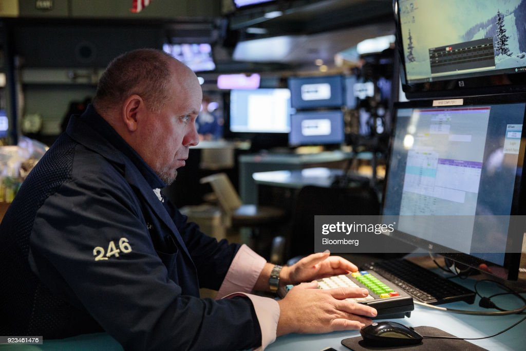 Trading On The Floor Of The NYSE As U.S. Stocks Rise With Treasuries