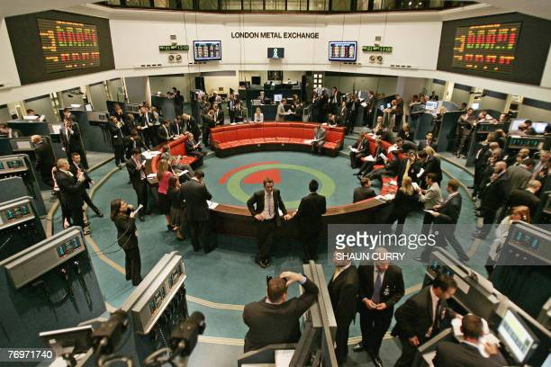 Traders operate in the pit at the London Metal Exchange in central London 21 September 2007 Established for over 130 years and located in the heart...