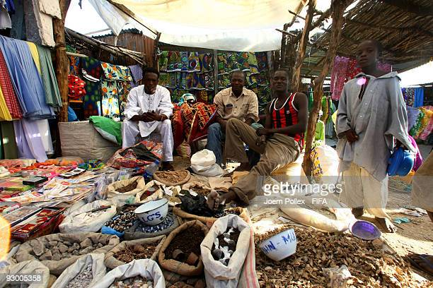 Traders sell their wares in a market on November 07 2009 in Bauchi Nigeria