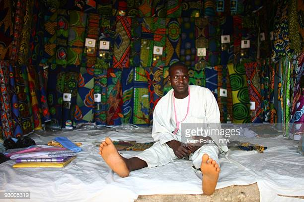 A traders sit in his stall at a market on November 07 2009 in Bauchi Nigeria