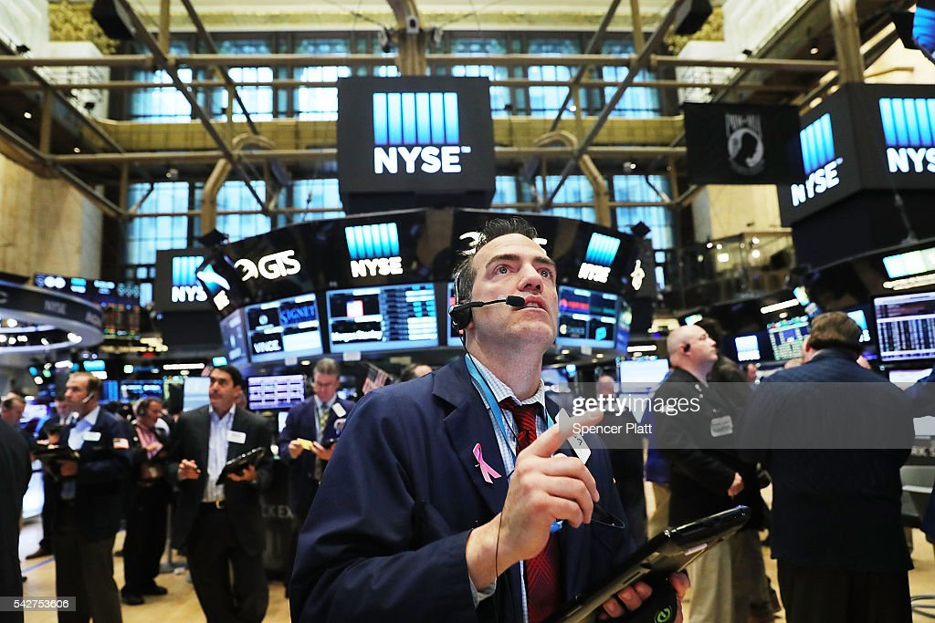 U.S. Markets React To Historic 'Brexit' Vote In UK : News Photo