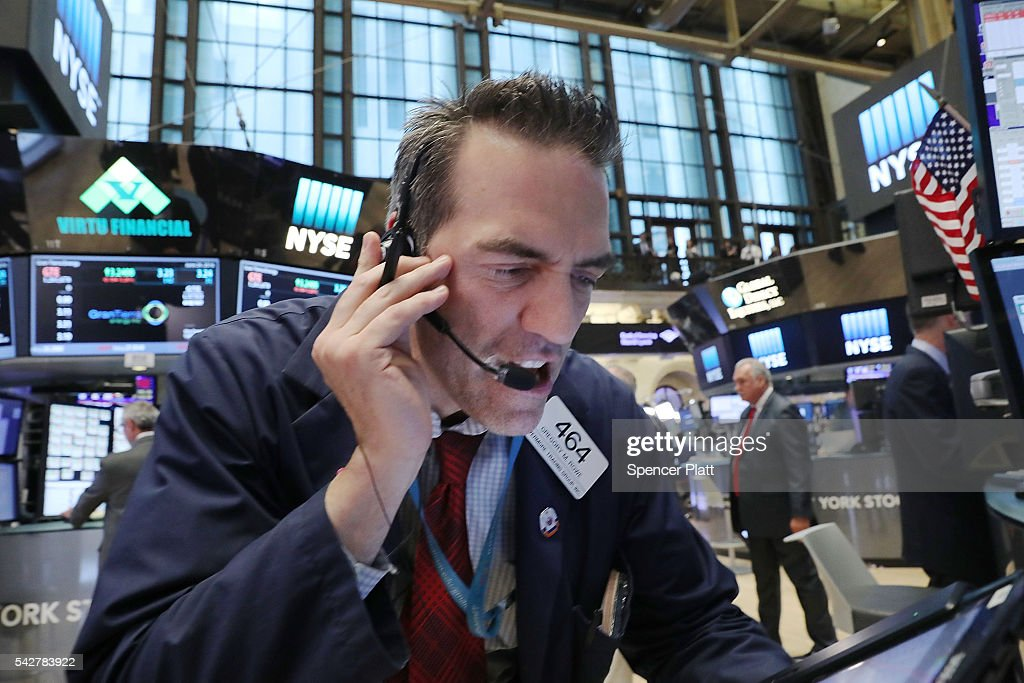 """U.S. Markets React To Historic """"Brexit"""" Vote In UK : News Photo"""