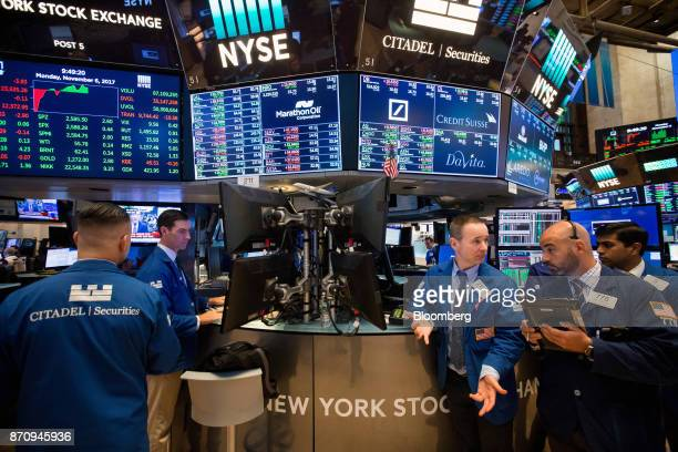 Trading On The Floor Of The Nyse As Stocks Rise While Trump