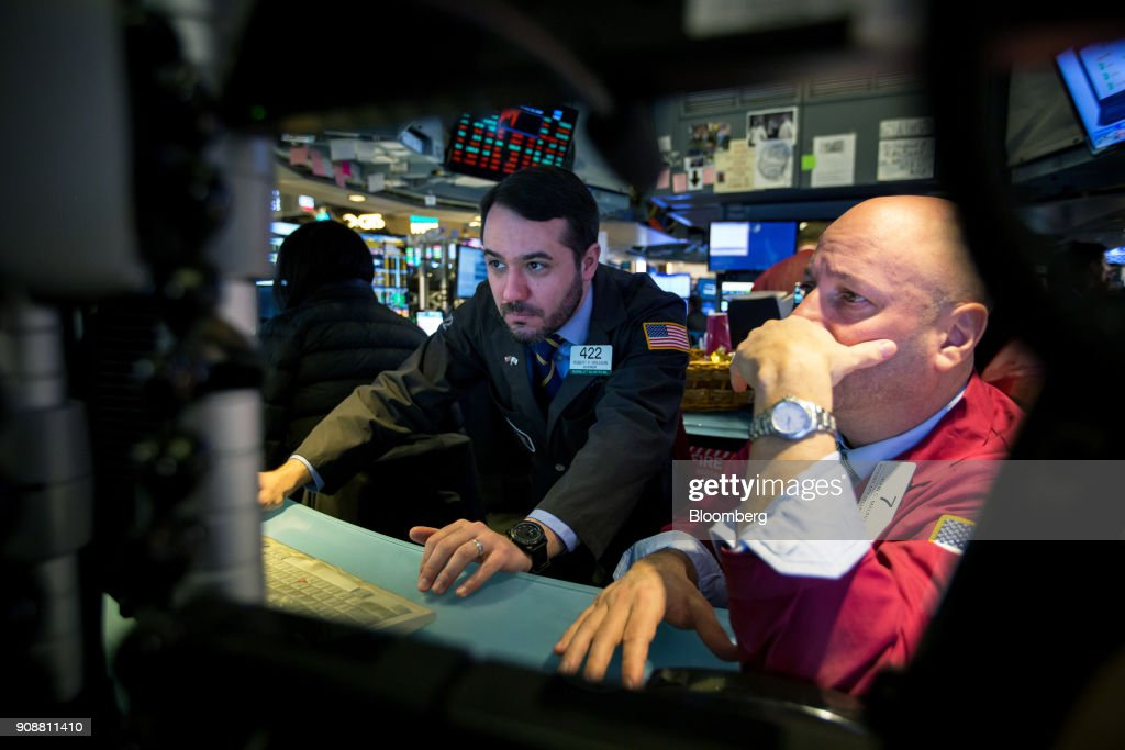 Trading On The Floor Of The NYSE As U.S. Stocks, Treasuries Rise While Greenback Weakens