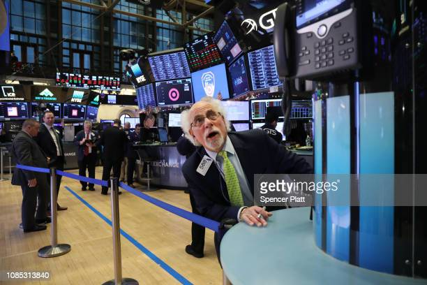 Traders work on the floor of the New York Stock Exchange on December 21 2018 in New York City Following another down day and one of the worst trading...