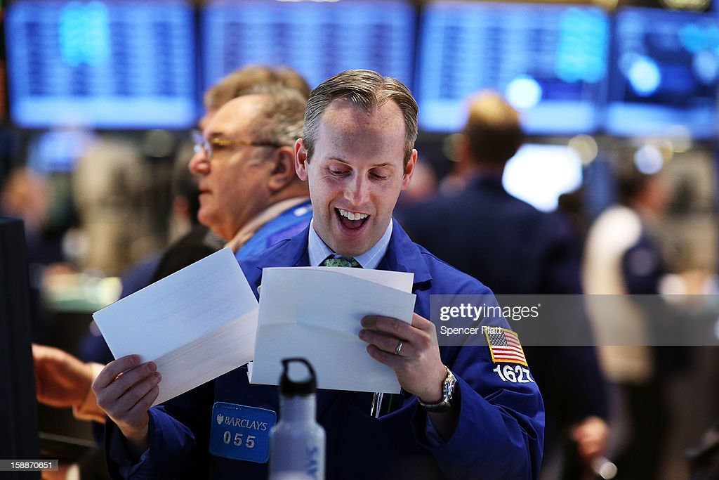 Markets Soar On Budget Deal OnFirst Trading Day Of 2013 : News Photo