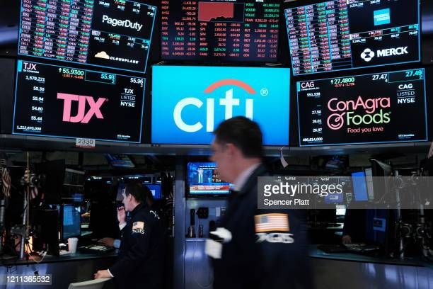 Traders work on the floor of the New York Stock Exchange on March 09, 2020 in New York City. As global fears from the coronavirus continue to...