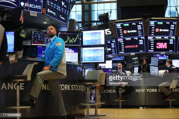 Traders work on the floor of the New York Stock Exchange on September 18, 2019 in New York City. As concerns about a global economic slowdown mount,...