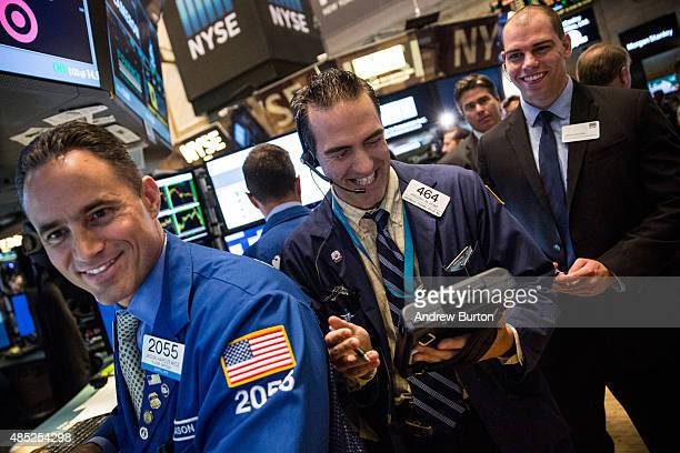 Traders work on the floor of the New York Stock Exchange on the morning of August 26 2015 in New York City After a volatile week of fluxuations the...