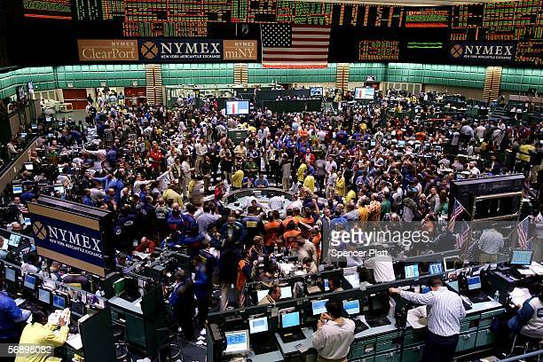 Traders work the floor of the New York Mercantile Exchange February 21 2006 in New York City As supply concerns in the futures markets spilled over...