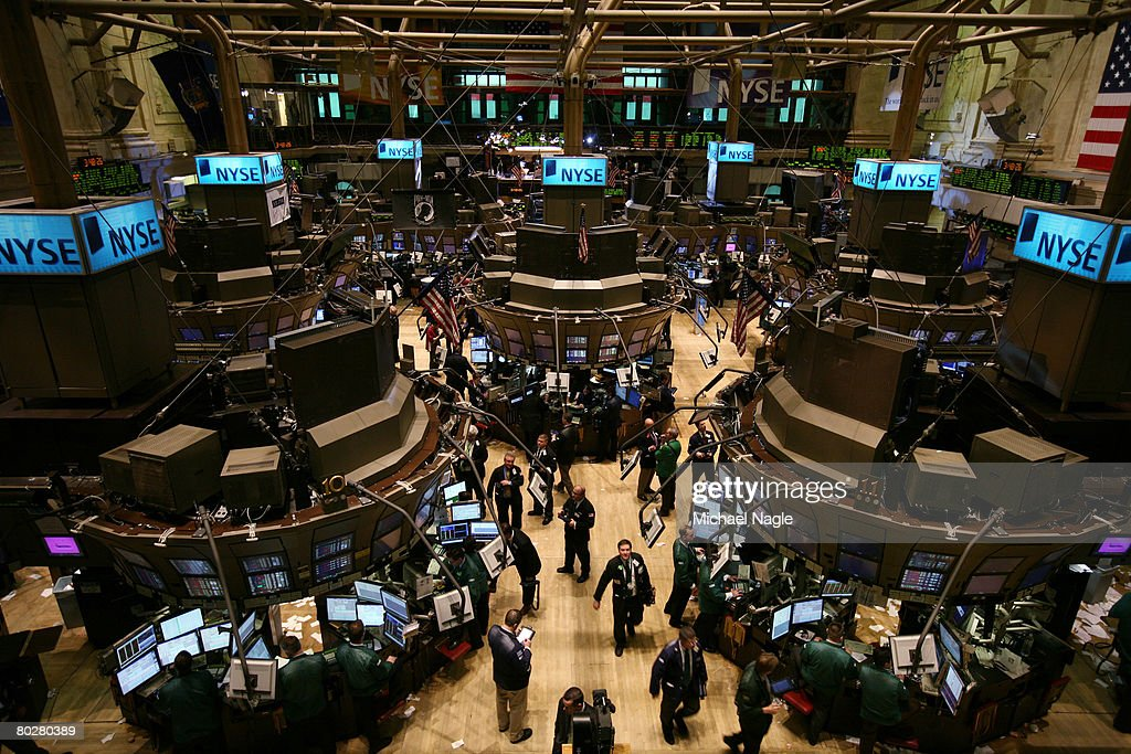 Traders work the floor of the New York Stock Exchange on March 17, 2008 in New York City. Stocks have been volatile on Wall Street following news of JP Morgan Chase acquisition of Bear, Stearns & Co, for $2 a share, with help of $30 billion in financing of Bear, Stearns assets from the U.S. Federal Reserve.