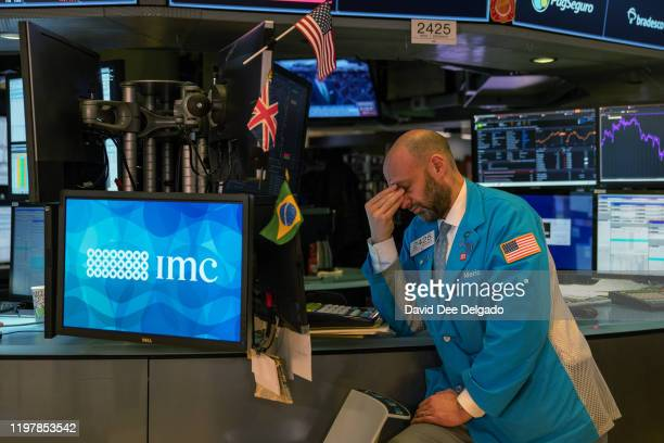 Traders working the floor of the New York Stock Exchange on January 31 2020 in New York United States The escalating spread of the coronavirus has...