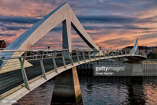 Tradeston Bridge, a pedestrian bridge in Glasgow