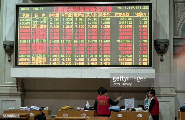 Trading Board at the Shanghai Stock Exchange