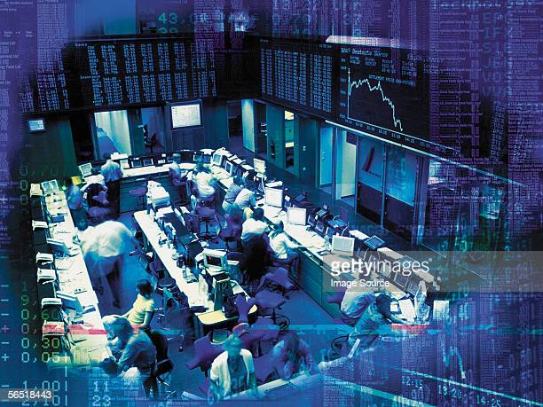 trading floor - nasdaq stock pictures, royalty-free photos & images
