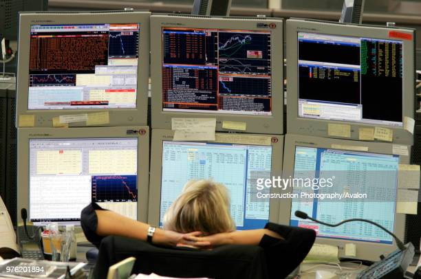 Trading Floor - Salle des Marches - German bank, Hessen, Franckfort.