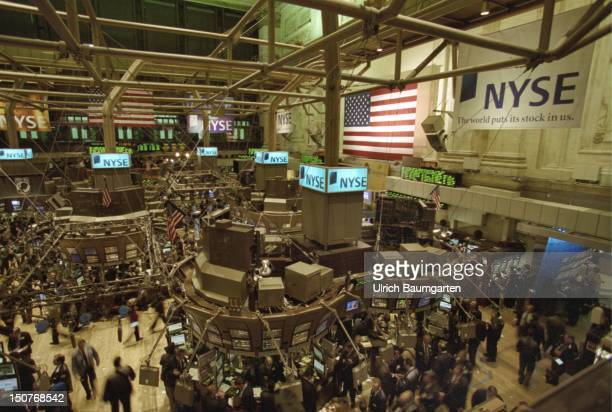 Trading on the trading floor of the New York Stock Exchange