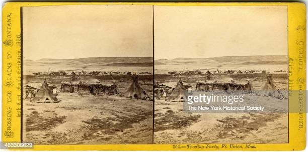 Trading Party Ft Union Montana taken while Crossing the Plains to Montana with Captain Fisk's Expedition 1866
