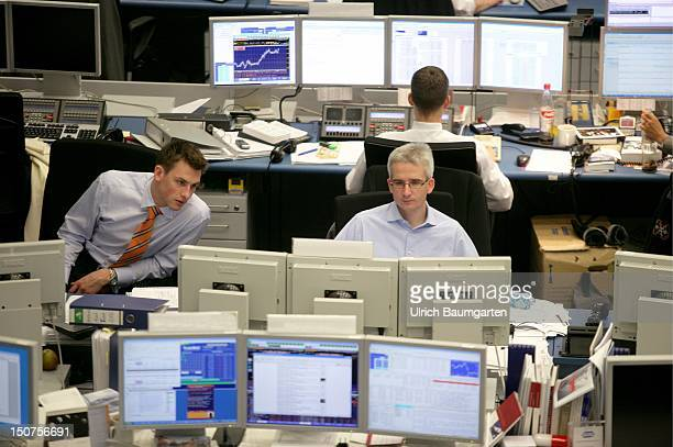 Trading room of the Deutsche Bank AG