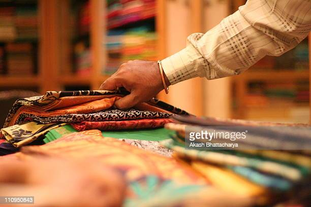 tradition | mysore silk saree - sari stock pictures, royalty-free photos & images