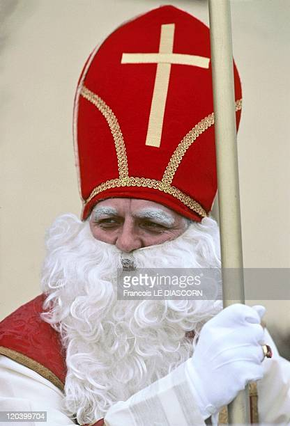 Tradition of Santa Claus in Germany Picture of the ancestor of Santa Claus Saint Nicolas Saint Nicolas was once the bishop of Myra in Turkey and...