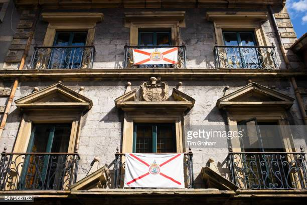 Traditional 3 star Pampinot tourist hotel in old town Hondarribia in Gipuzkoa Basque Country Spain