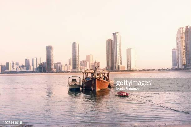 Traditional abra boat in Sharjah, UAE