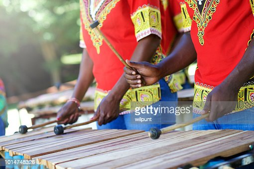 Balafon, african musical instrument of wood and gourds ...  |African Wooden Xylophone