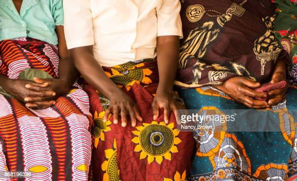 Traditional African Women in Traditional Clothes Sitting in Selima Malawi.