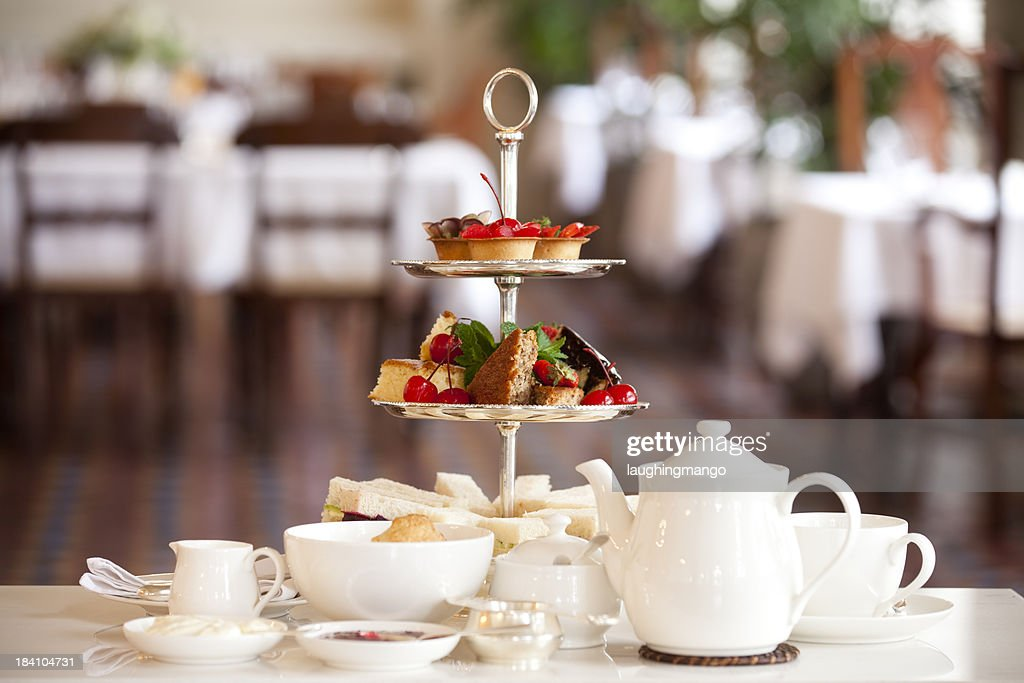 traditional afternoon tea : Stock Photo