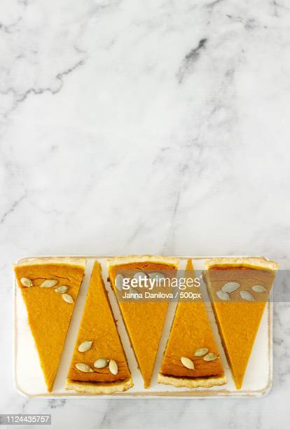 Traditional American Pumpkin Pie For Thanksgiving Day Or Halloween On A Light Background. Rustic...