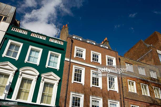 Traditional and typical architecture of Soho Square, London
