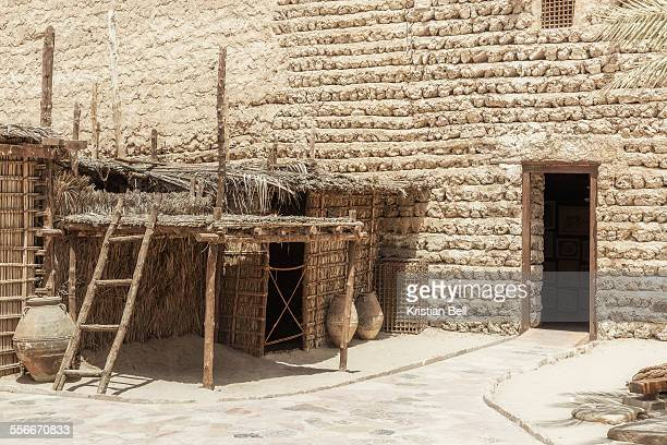 traditional arabian dwelling - uae heritage stock photos and pictures