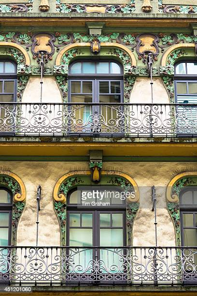 Traditional architecture in Gijon city Asturias Northern Spain