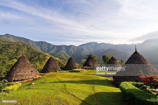 traditional architecture - flores indonesia fotografías e imágenes de stock