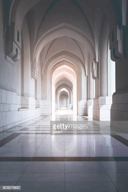 traditional archway in muscat, oman - mosque stock pictures, royalty-free photos & images