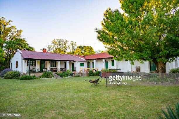 traditional argentine estancia guesthouse outside cordoba - argentina stock pictures, royalty-free photos & images