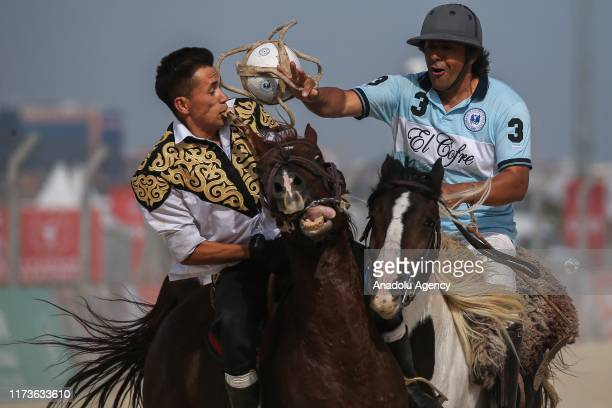 "Traditional Argentinian ""pato"" game is played with pato players and buzkashi players during the 4th Etnospor Culture Festival held at Ataturk..."