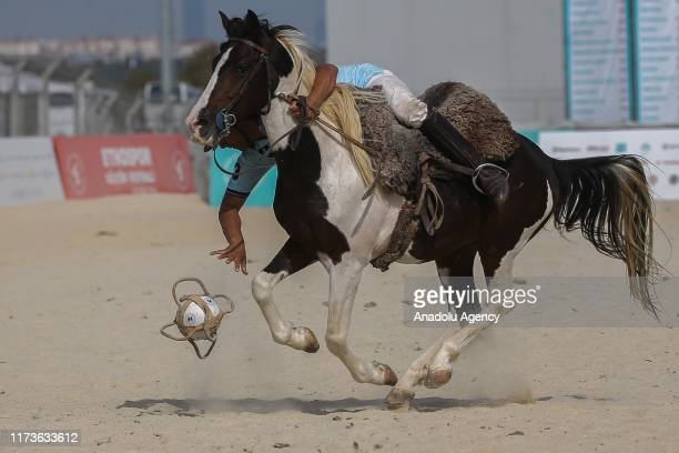Traditional Argentinian pato game is played with pato players and buzkashi players during the 4th Etnospor Culture Festival held at Ataturk Airport...