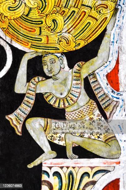 traditional art at mediliya rajamaha vihara - imagebook stock pictures, royalty-free photos & images