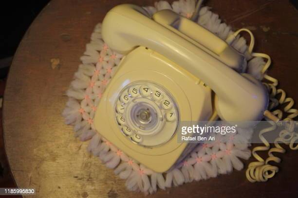 traditional australian rotary phone dial - rafael ben ari stock pictures, royalty-free photos & images