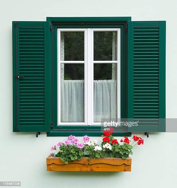 Traditionelle österreichische Blume Fenster (XXXL)