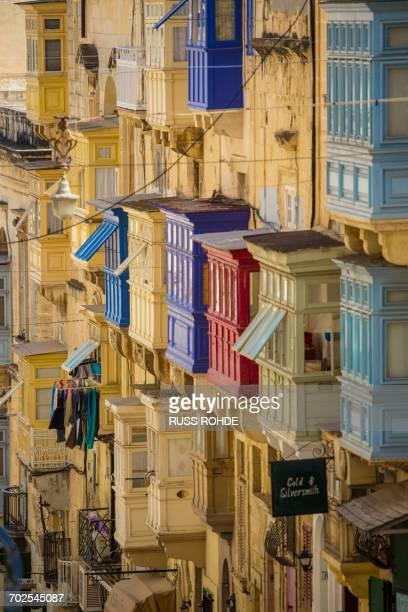 Traditional balconies, Valletta, Malta