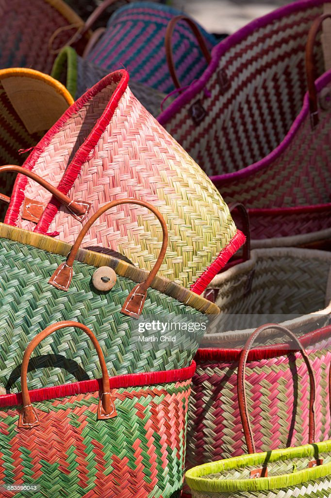 Traditional baskets for sale in Aix en Provence : Stock Photo