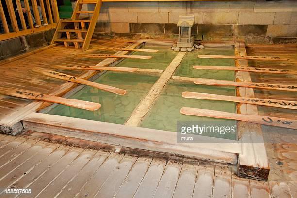 Traditional bath in Kusatsu onsen, Japan