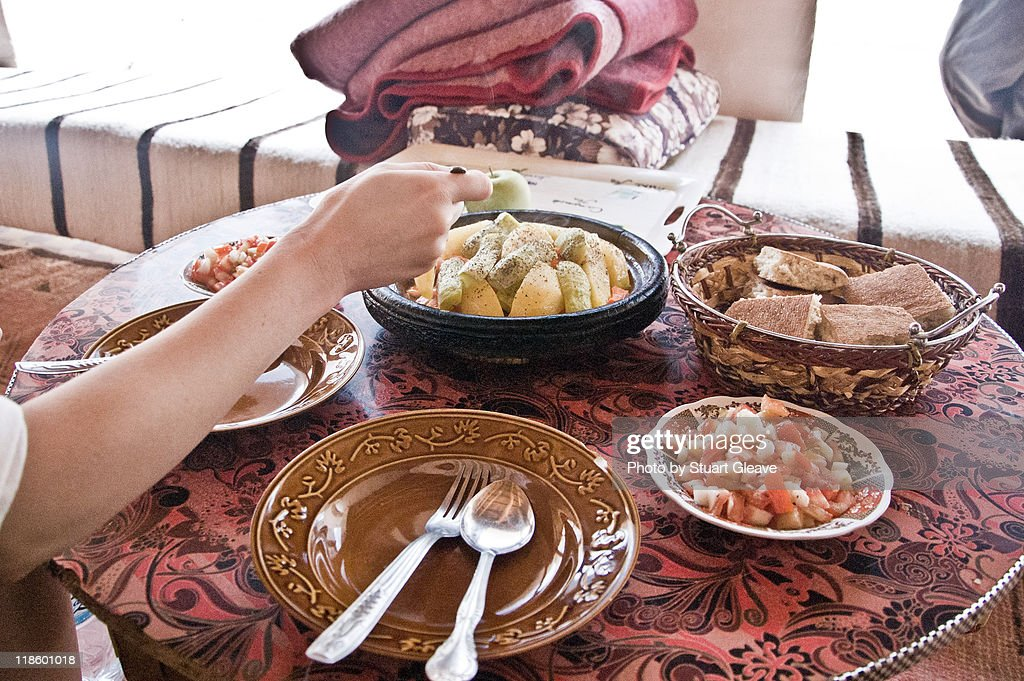 Traditional Berber lunch : Stock Photo