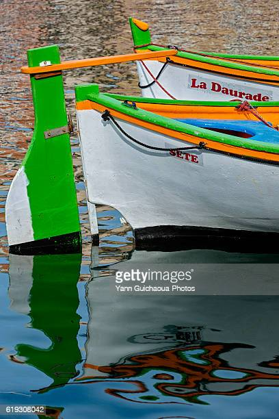 Traditional boat at Sete, Herault, France